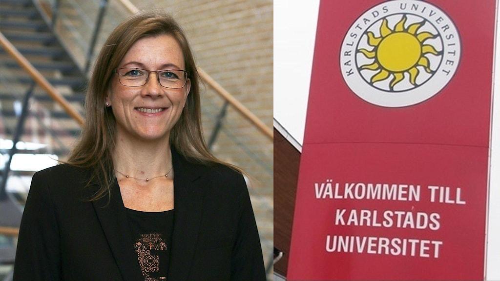 Ellinor Skaremyr. Foto: Karlstads universitet och Sveriges Radio.