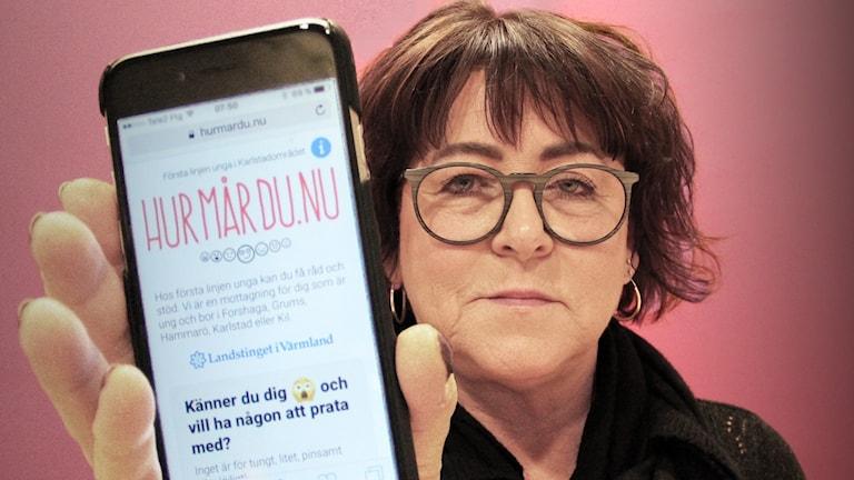 Christina Sand, avdelningschef på Första linjen. Foto: Lars-Gunnar Olsson/Sveriges Radio.