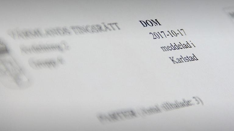 Ett domslut. Foto: Sveriges Radio.