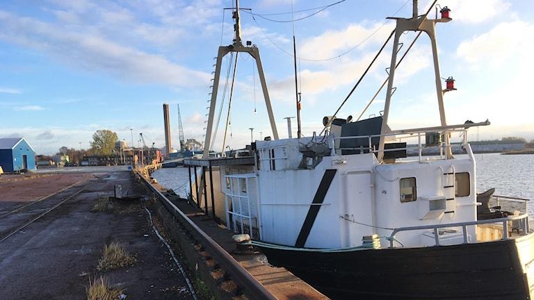 Skeppet Daisy tillbaka i yttre hamn i Karlstad.