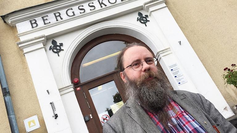 Jörgen Andersson, rektor på Bergskolan i Filipstad. Foto: Robert Ojala/Sveriges Radio.