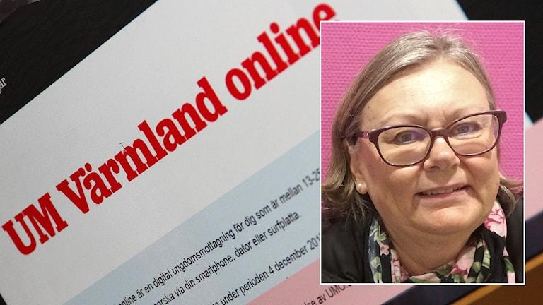 Karin Koskelainen (infälld). Foto: Mari Stenström/Sveriges Radio.