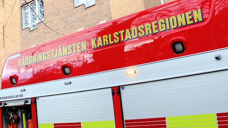 Räddningstjänsten Karkstadsregionen. Foto: Lars-Gunnar Olsson/Sveriges Radio.