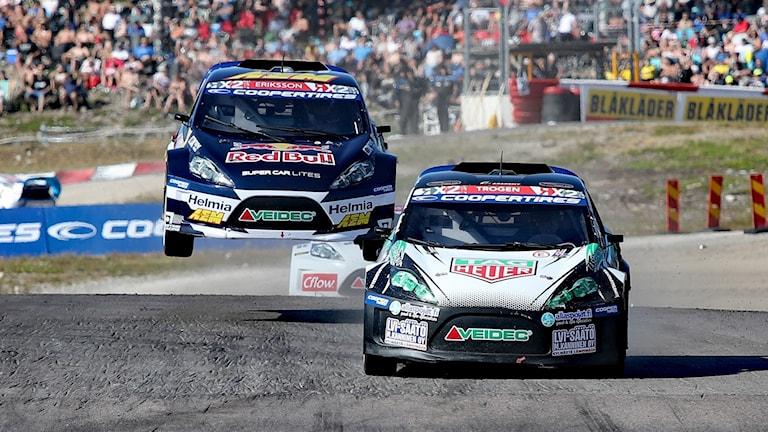 Rallycross i Höljes 2018.  Foto Örjan Bengtzing/Sveriges Radio.