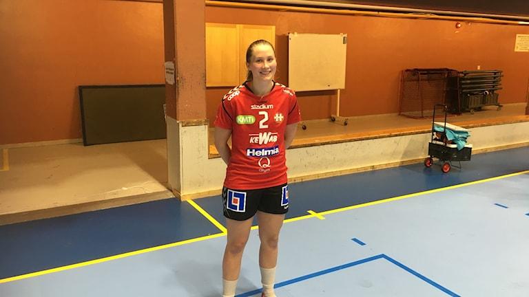 Helltons Ida Holm efter slutsignalen.
