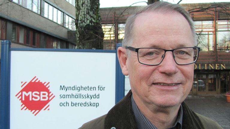 Lars Olsson, leveransansvarig för VMA på Myndigheten för samhällsskydd och beredskap, MSB. Foto: Magnus Hermansson/Sveriges Radio.