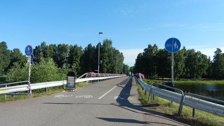 Gång och cykelbron vid Gubbholmen i Karlstad.