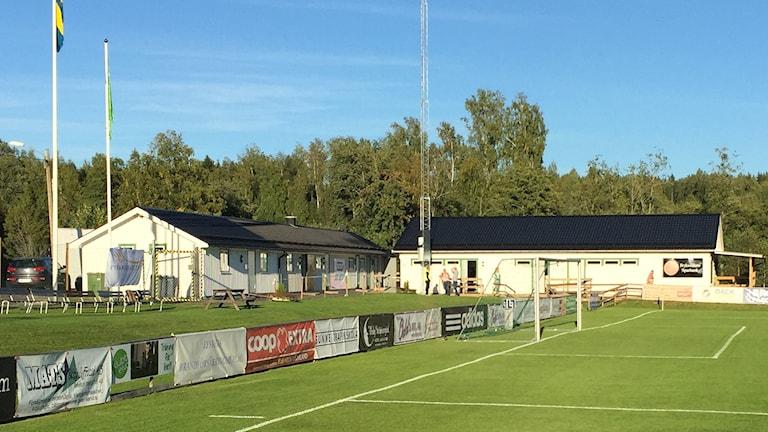 Mallbacken, Strandvallens klubbhus. Foto: Mats Fagerström/Sveriges Radio.