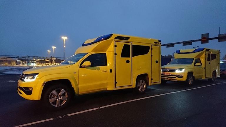 De nya ambulanserna som är på väg till Värmland.