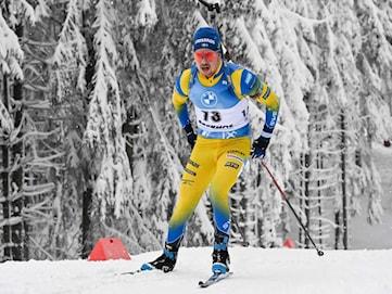Sverige tog en sjundeplats i stafetten i Oberhof
