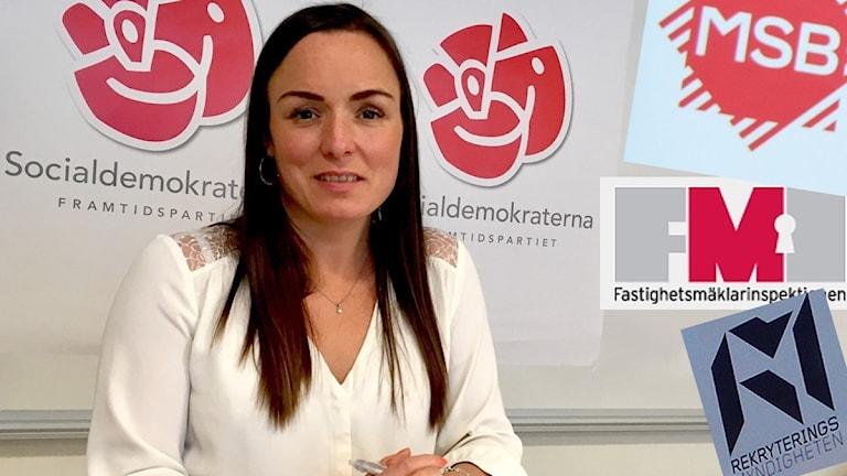 Linda Larsson (S). Foto: Sveriges Radio.