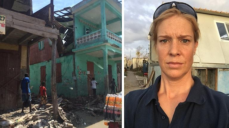 MSBs Kajsa Nordmark på Haiti