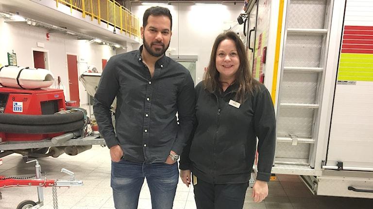 Hussein Zeki och Victoria Rand. Foto: Sara Johansson/Sveriges Radio.
