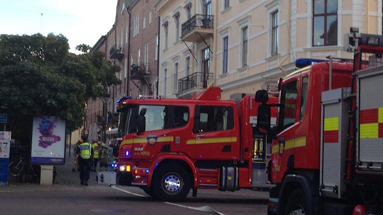 Brand i centrala Karlstad