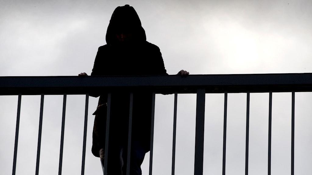 En kvinna står på en bro. Foto: Claudio Bresciani/TT.