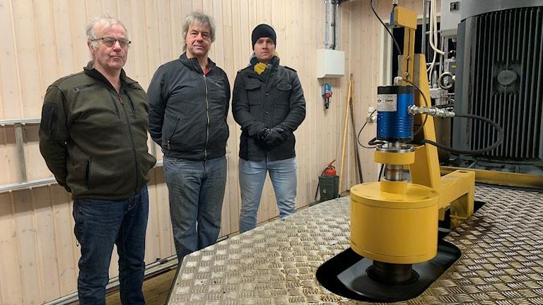 Conrad Nisser, Christer Hedberg och Tomas Keiner. Foto: Gustav Jacobson/Sveriges Radio.