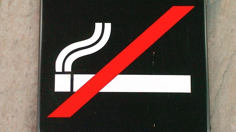 En rökning förbjuden-skylt.