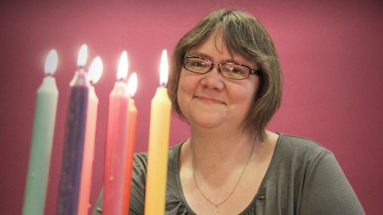 Louise Hedberg. Foto: Lars-Gunnar Olsson/Sveriges Radio.