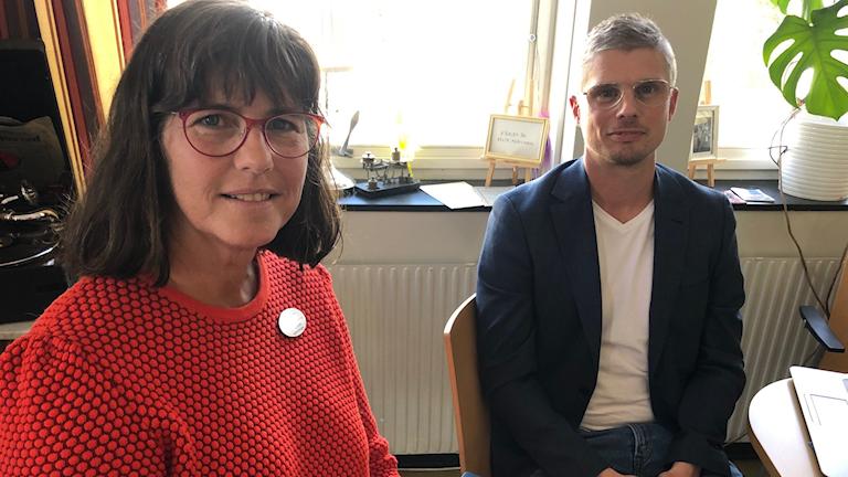 Catarina Kristhammar och Michael Örnstedt på Kristinehamn kommun