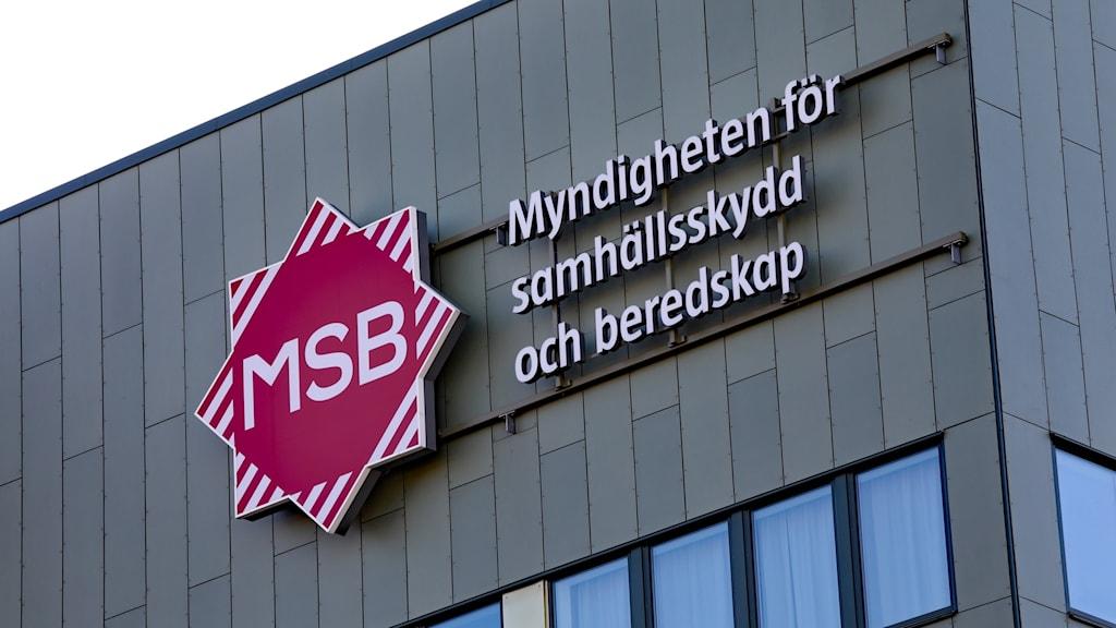 MSB skylt i Karlstad. Foto: Örjan Bengtzing/Sveriges Radio.