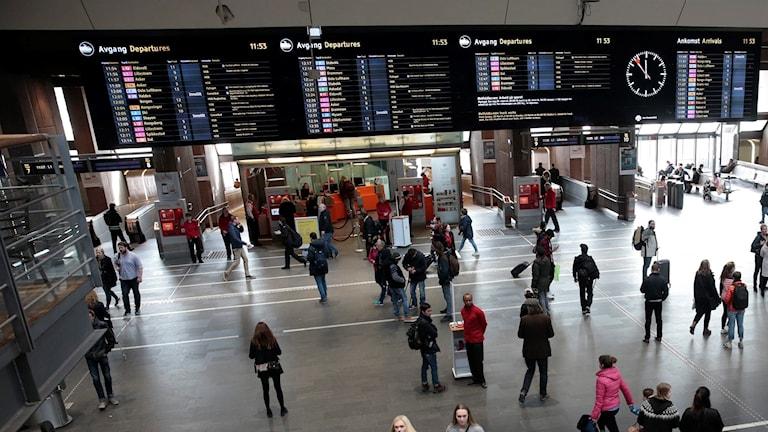 Oslo centralstation. Foto: Lise Åserud/TT.