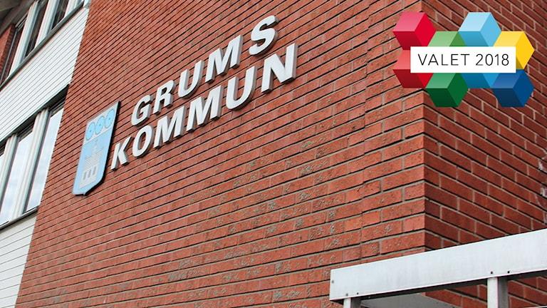 Kommunhuset i Grums. Foto: Isak Olsson/Sveriges Radio.