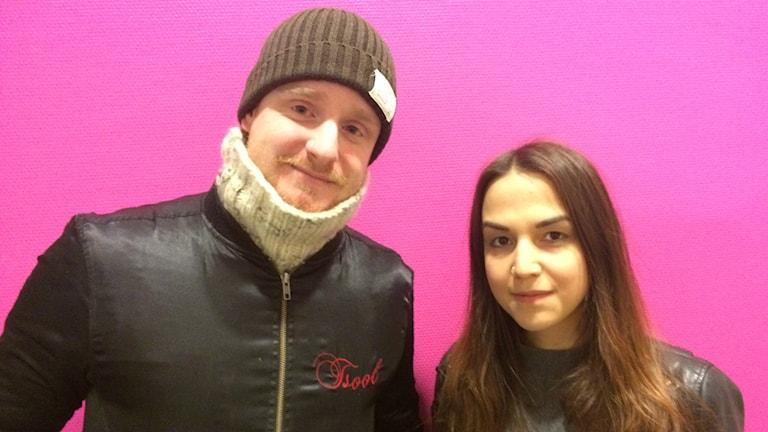 Roya Sarvestani, klubbarrangör och Erik Segerpalm, nöjesredaktör på Värmlands folkblad