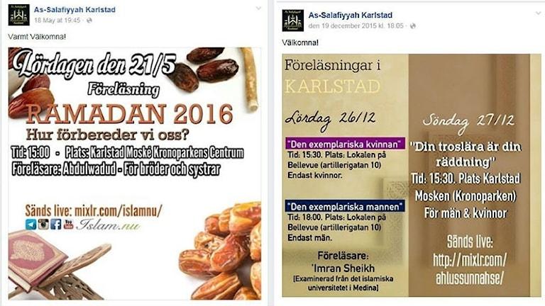 Posters inför ramadan och föreläsningar