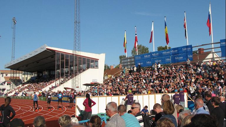 Det var glada besökare under Karlstad GP.