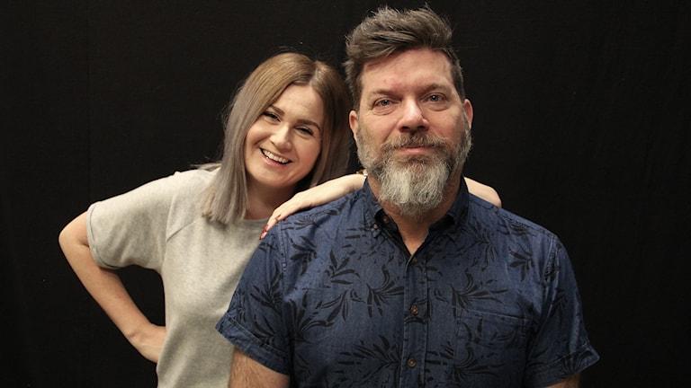 Sara Johansson och Bengt Höglind. Foto: Lars-Gunnar Olsson/Sveriges Radio.
