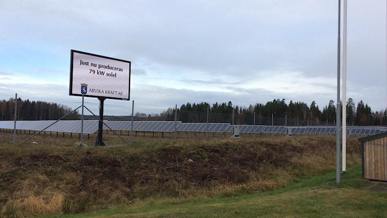 Solelsparken utanflr Arvika.