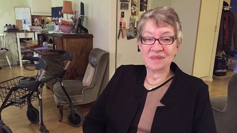 Ann-Marie Johansson, ordförandet Handikappförbundet i Värmland. Foto: Robert Ojala/Sveriges Radio.