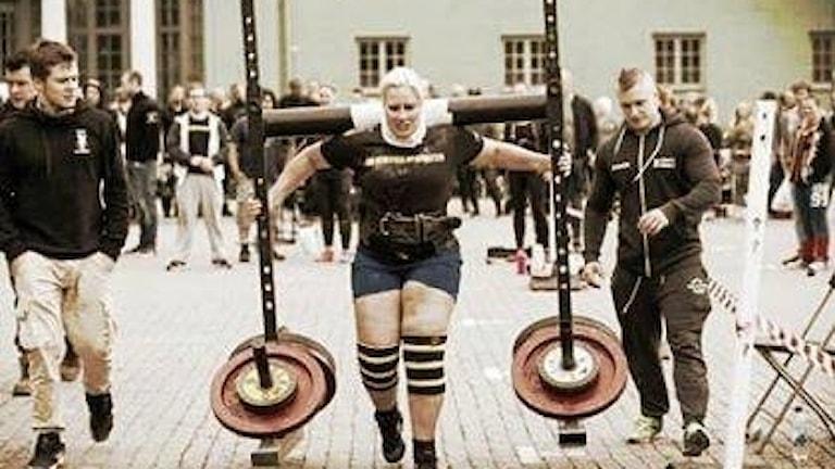 Marie Nilsson, Bjälverud, tävlar om att bli Europas starkaste kvinna