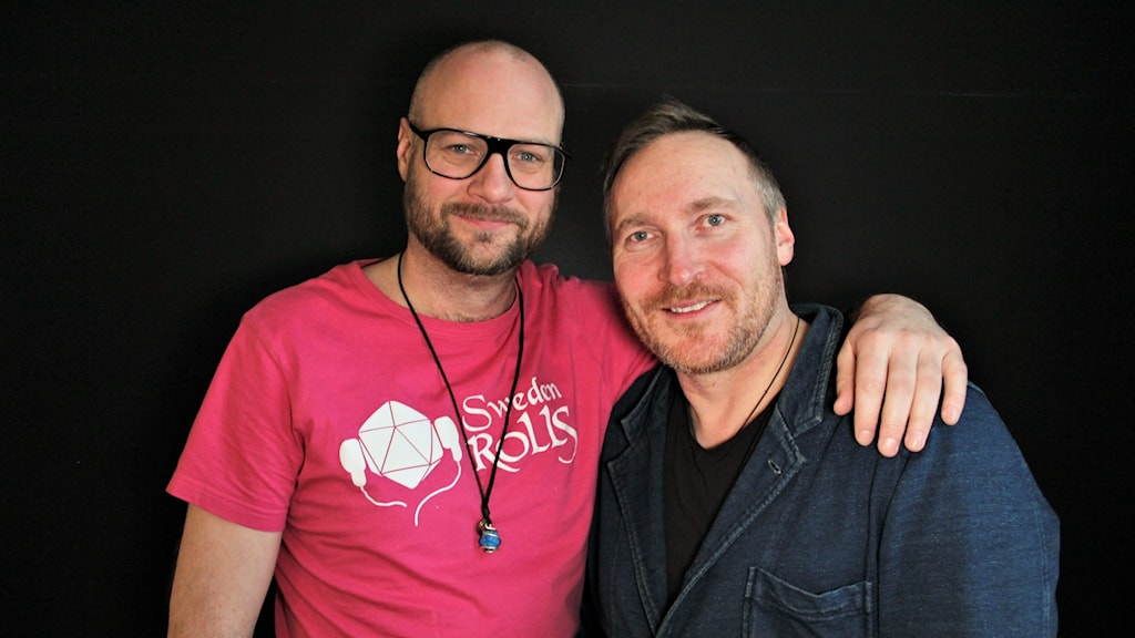 Jakob Hultcrantz Hansson och Andreas Lundström. Foto: Frida Granström/Sveriges radio