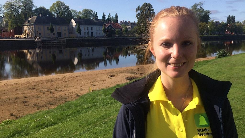 Erika Svensson, projektledare för Städa Sverige - idrottens miljöorganisation.