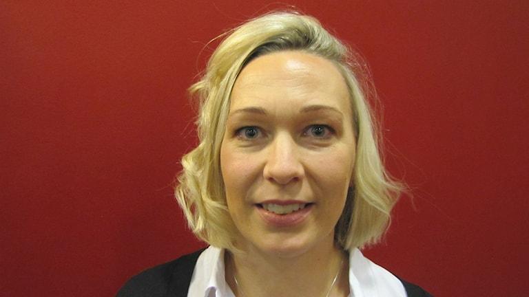 Carolina Jernbro, adjunkt i riskhantering vid Karlstads universitet. Foto: Magnus Hermansson/Sveriges Radio.