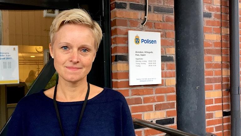 anna lagerdahl, chef för polisregion Bergslagens enhet som jobbar mot människohandel