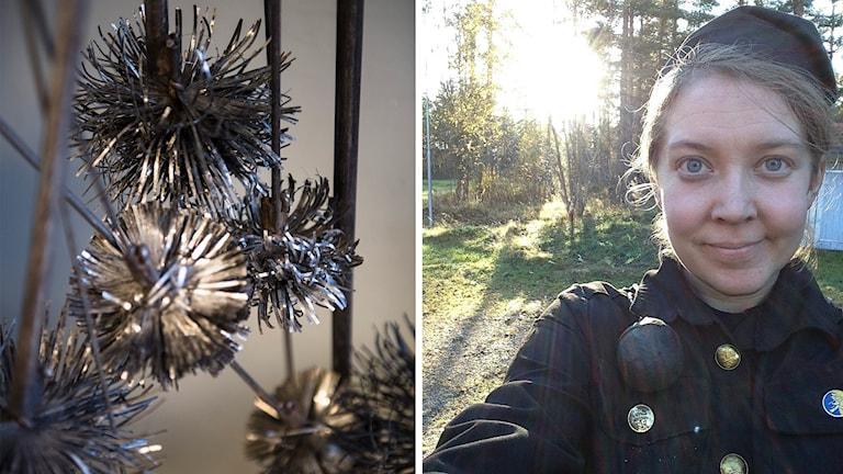Sotarvisor och sotaren Mari Norborg . Foto: Nora Lorek/TT och privat.