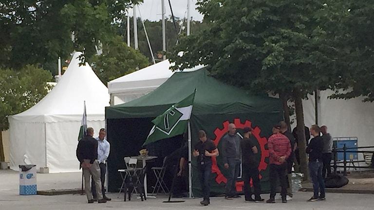 NMR, Nordiska Motståndsrörelsen på plats under Almedalsveckan 2017.