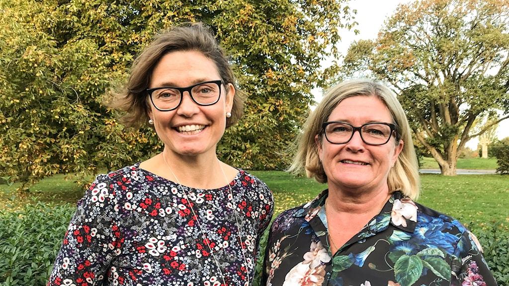 Anna Axelsson, Östsvenska handelskammaren, och Mariette Nicander, Gotlandsambassadör för 100-listan.