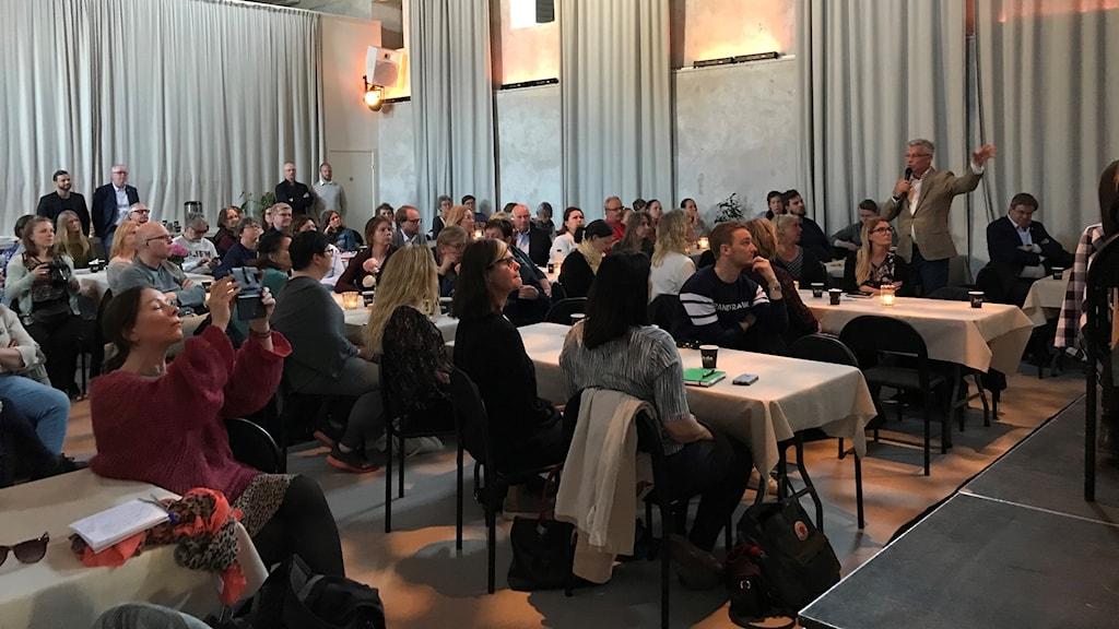 Henrik Strangel, VD på Länsförsäkringar på seminariet om ungas psykiska ohälsa.