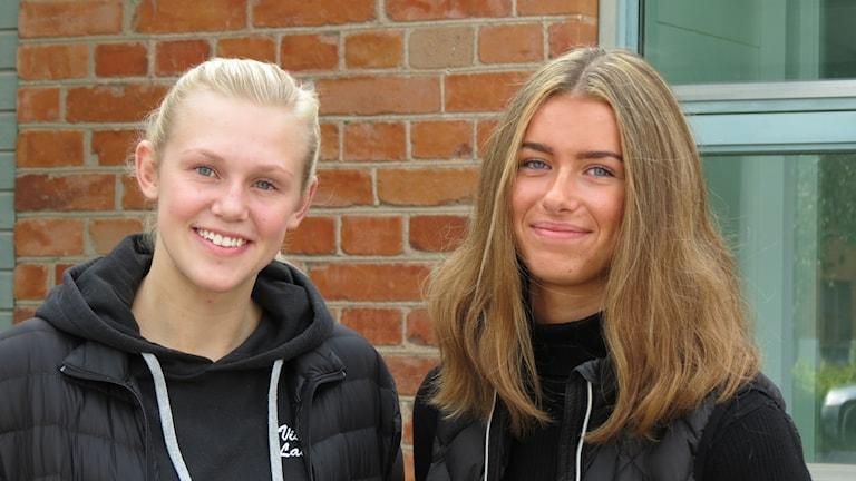 Elin Sjöberg och Elsa Ericsson i Visby Ladies
