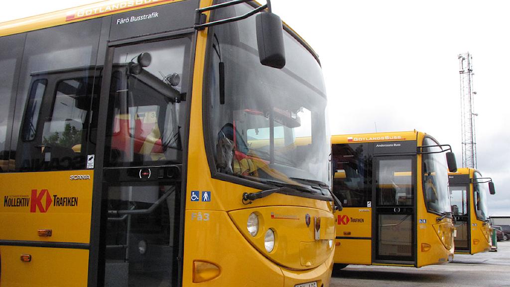 Gotlandsbuss. Arkivfoto: SR Gotland