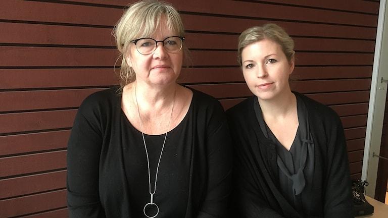 Eva Bofride och Emma Fagerberg.