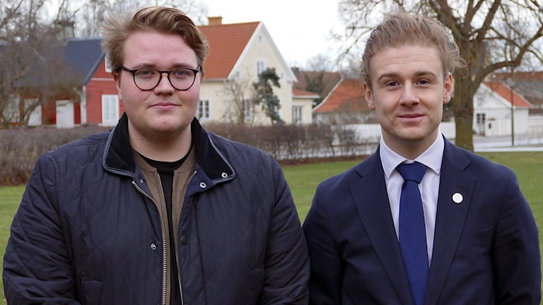 David Lindvall (S) och Jesper Skalberg Karlsson (M)