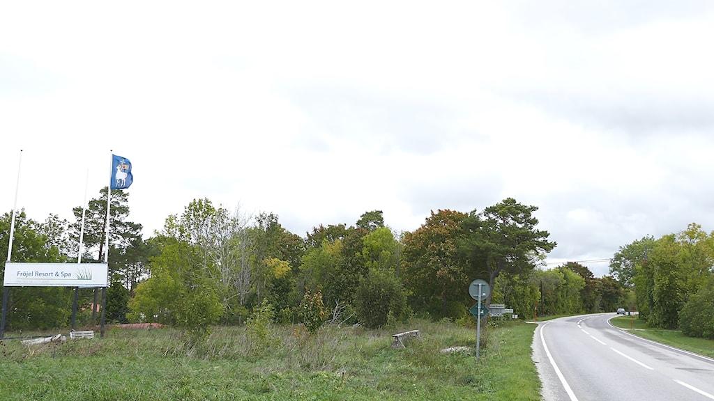 Länsväg 140 vid Fröjel Resort