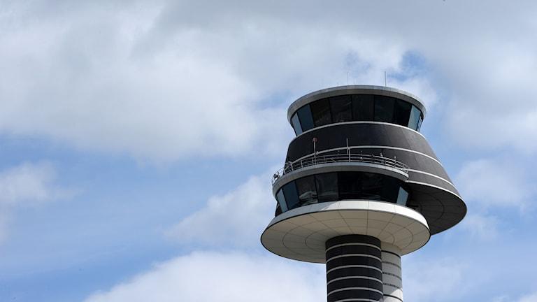 Flygledartornet på Arlanda flygplats utanför Stockholm.
