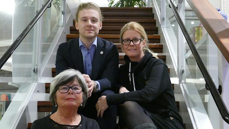Monica Westfält-Nilsson, Jesper Skalberg Karlsson och Malin Skalberg