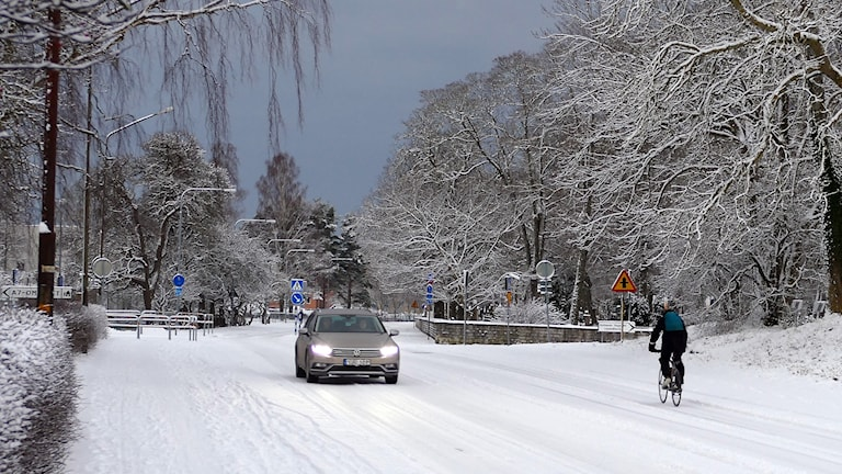 Vintertrafik i Visby