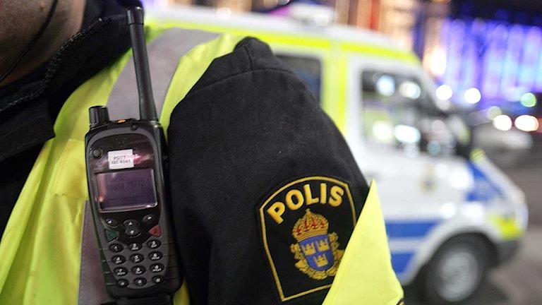 Handenhet till polisens nya radiosystem RAKEL. Foto: Fredrik Persson/Scanpix